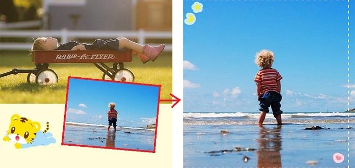 レイアウト変更:写真2枚から1枚へ