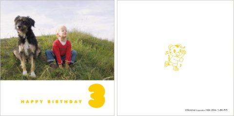しまじろう記念フォトブック:3歳