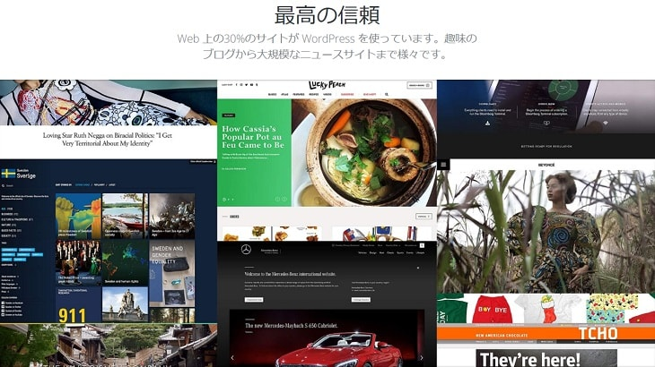 WordPress公式サイトイメージ