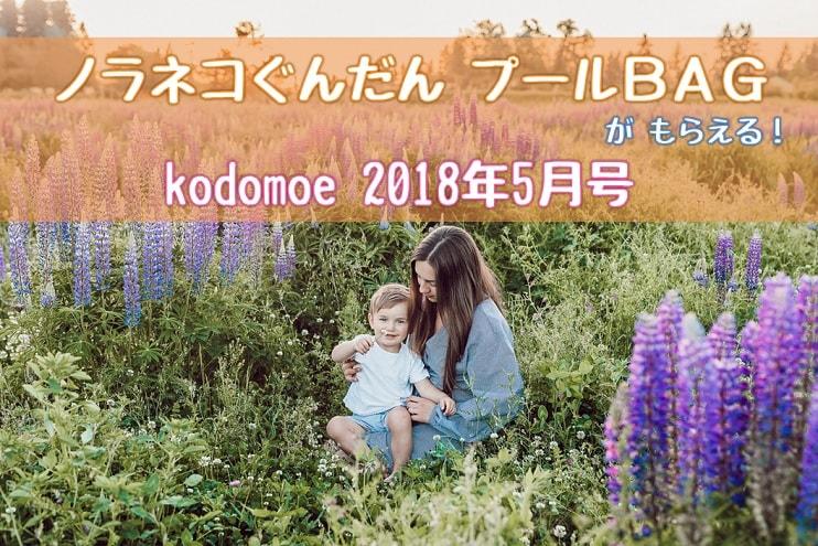 ノラネコぐんだんプールバッグがもらえる!kodomoe 2018年5月号