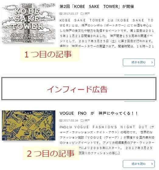 インフィード広告イメージ